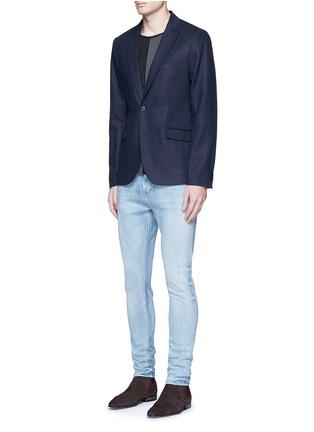Figure View - Click To Enlarge - 70001 - Notch lapel cotton-linen blazer
