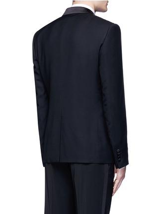 Back View - Click To Enlarge - - - 'Martini' satin trim wool-silk tuxedo blazer