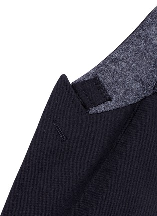 Detail View - Click To Enlarge - - - Slim fit bee embroidery wool tuxedo blazer