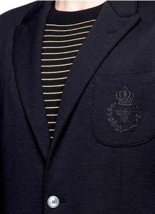Detail View - Click To Enlarge - Dolce & Gabbana - Crown embroidery wool soft blazer