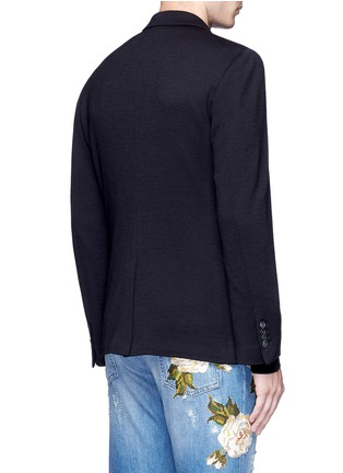 Back View - Click To Enlarge - Dolce & Gabbana - Crown embroidery wool soft blazer