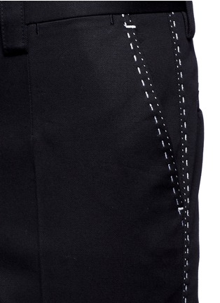 Detail View - Click To Enlarge - - - Slim fit contrast stitch cropped pants