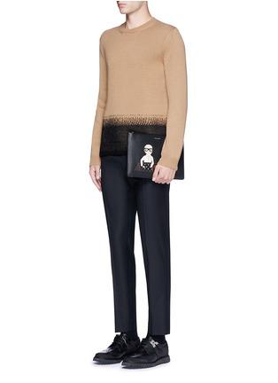 Figure View - Click To Enlarge - - - Slim fit wool pants