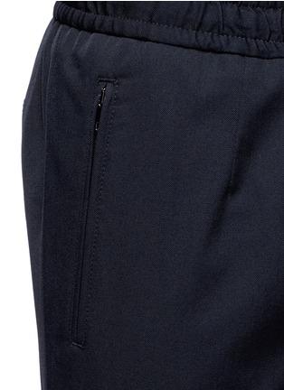 Detail View - Click To Enlarge - Dolce & Gabbana - Slim fit drawstring wool-cotton pants