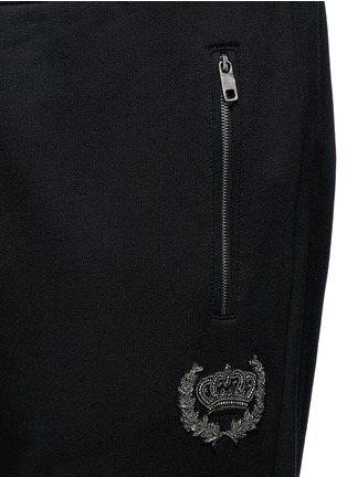 Detail View - Click To Enlarge - Dolce & Gabbana - Crown embroidery jogging pants