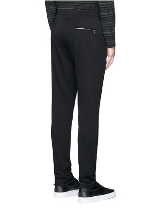 Back View - Click To Enlarge - Dolce & Gabbana - Crown embroidery jogging pants
