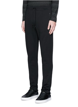 Front View - Click To Enlarge - Dolce & Gabbana - Crown embroidery jogging pants