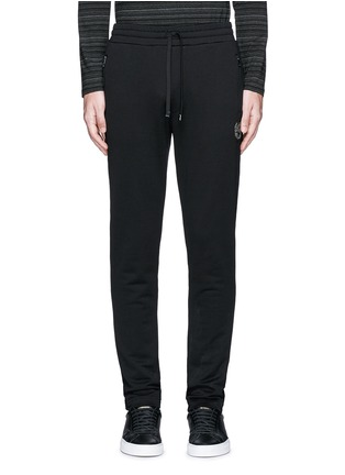Main View - Click To Enlarge - Dolce & Gabbana - Crown embroidery jogging pants