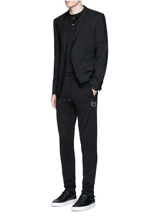 Figure View - Click To Enlarge - Dolce & Gabbana - Crown embroidery jogging pants