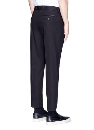 Back View - Click To Enlarge - - - Slim fit pleated cotton pants