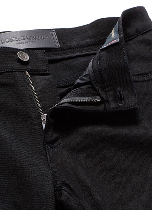 - Dolce & Gabbana - 'Stretch 14' slim fit embroidered jeans