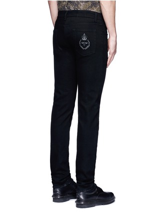 Back View - Click To Enlarge - Dolce & Gabbana - 'Stretch 14' slim fit embroidered jeans