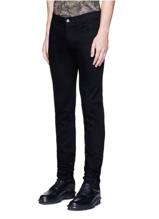 Front View - Click To Enlarge - Dolce & Gabbana - 'Stretch 14' slim fit embroidered jeans