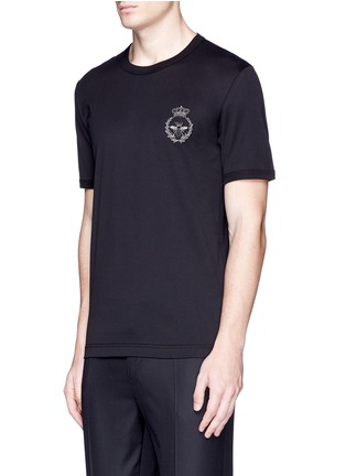 Front View - Click To Enlarge - Dolce & Gabbana - Crown and bee crest embroidery T-shirt