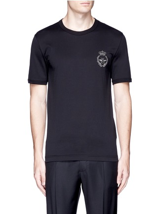 Main View - Click To Enlarge - Dolce & Gabbana - Crown and bee crest embroidery T-shirt