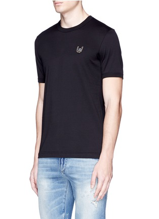 Front View - Click To Enlarge - Dolce & Gabbana - Horseshoe embroidery T-shirt