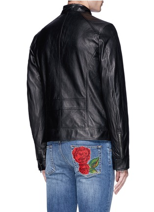 Back View - Click To Enlarge - Dolce & Gabbana - Leather racer jacket