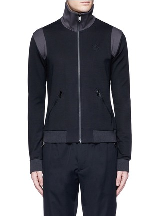 Main View - Click To Enlarge - Dolce & Gabbana - Crown embroidery wool-cotton track jacket