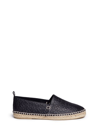 Main View - Click To Enlarge - 90119 - x John Allen engraved anagram leather espadrilles