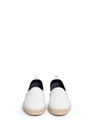 Front View - Click To Enlarge - LOEWE - x John Allen engraved anagram leather espadrilles
