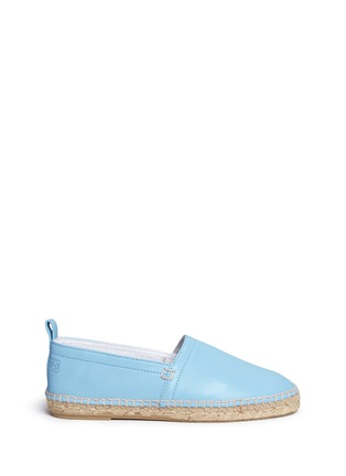 Main View - Click To Enlarge - 90119 - Lambskin leather espadrilles