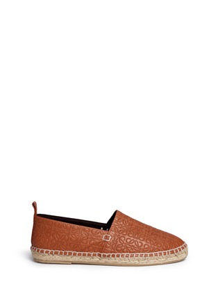 Main View - Click To Enlarge - Loewe - x John Allen engraved anagram leather espadrilles