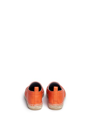 Back View - Click To Enlarge - Loewe - Lambskin leather espadrilles