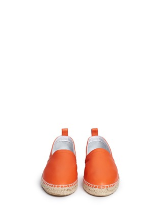 Front View - Click To Enlarge - Loewe - Lambskin leather espadrilles