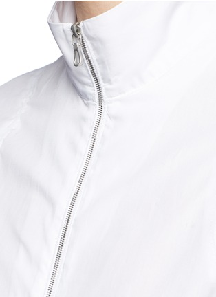 Detail View - Click To Enlarge - Acne Studios - 'Mahina Pop' high neck zip front shirt