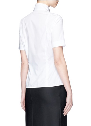 Back View - Click To Enlarge - Acne Studios - 'Mahina Pop' high neck zip front shirt