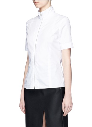 Front View - Click To Enlarge - Acne Studios - 'Mahina Pop' high neck zip front shirt