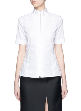Main View - Click To Enlarge - Acne Studios - 'Mahina Pop' high neck zip front shirt