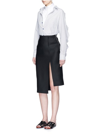 Figure View - Click To Enlarge - Acne Studios - 'Mahina Pop' high neck zip front shirt