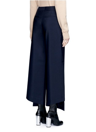 Back View - Click To Enlarge - Acne Studios - 'Haddie' asymmetric cuff wool-mohair wide leg pants
