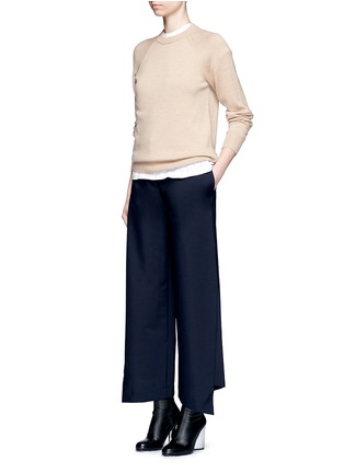 Figure View - Click To Enlarge - Acne Studios - 'Haddie' asymmetric cuff wool-mohair wide leg pants