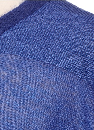 Detail View - Click To Enlarge - ACNE STUDIOS - 'Phira' ribbed back linen sweater