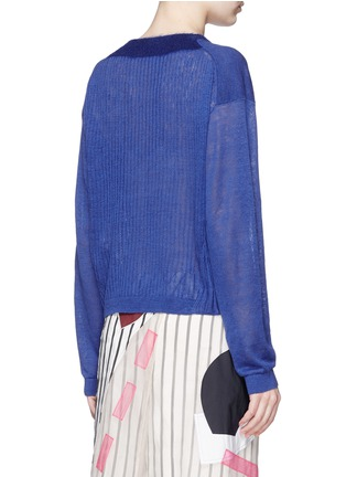 Back View - Click To Enlarge - ACNE STUDIOS - 'Phira' ribbed back linen sweater