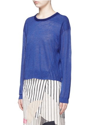 Front View - Click To Enlarge - ACNE STUDIOS - 'Phira' ribbed back linen sweater