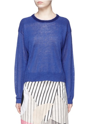 Main View - Click To Enlarge - ACNE STUDIOS - 'Phira' ribbed back linen sweater