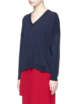 Front View - Click To Enlarge - Acne Studios - 'Heia' cotton blend V-neck sweater