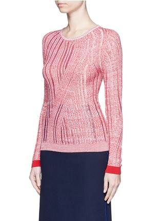 Front View - Click To Enlarge - Acne Studios - 'Marcy Moulin' ladder stitch rib knit sweater