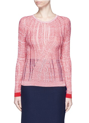 Main View - Click To Enlarge - Acne Studios - 'Marcy Moulin' ladder stitch rib knit sweater