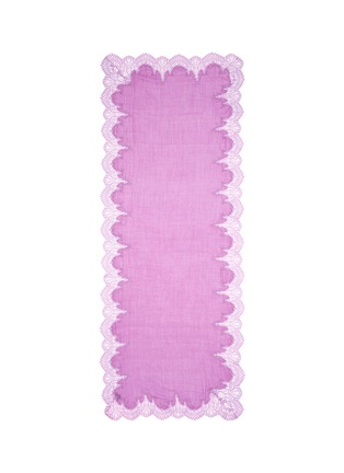 Main View - Click To Enlarge - Janavi - Floral lace border wool-silk scarf
