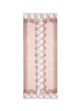 Main View - Click To Enlarge - Janavi - Floral lace ombré effect cashmere scarf