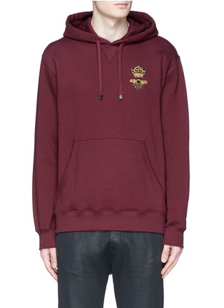 Main View - Click To Enlarge - Dolce & Gabbana - Crown and bee embroidery hoodie