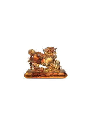 Main View - Click To Enlarge - TITTOT - A Lion Playing Coins sculpture
