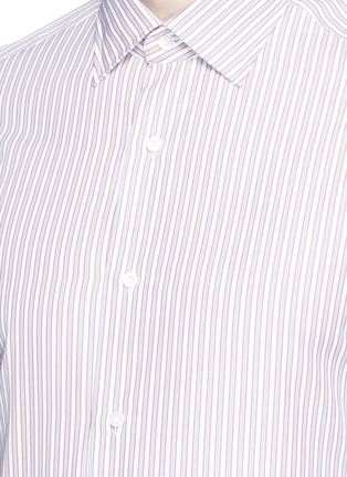 Detail View - Click To Enlarge - ISAIA - 'Parma' stripe cotton shirt