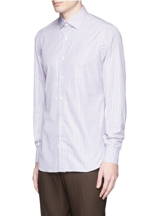 Front View - Click To Enlarge - ISAIA - 'Parma' stripe cotton shirt
