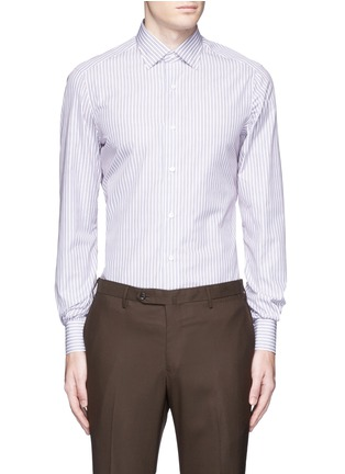 Main View - Click To Enlarge - ISAIA - 'Parma' stripe cotton shirt