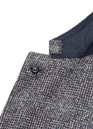 Detail View - Click To Enlarge - Lardini - Python mélange lambswool soft blazer